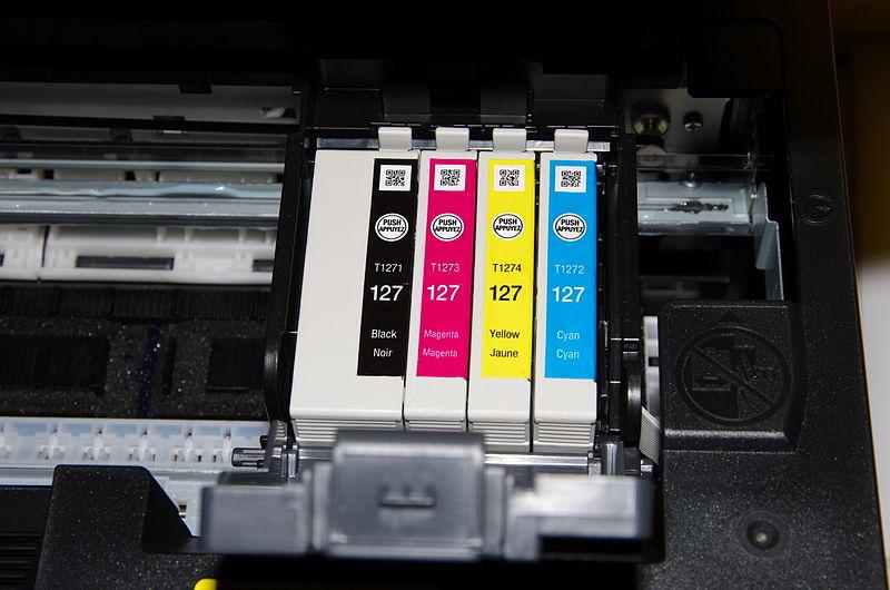 Чотириколірний картридж з колірною схемою CMYK