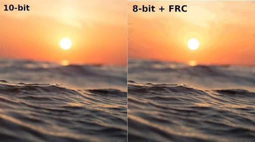 8 bit + FRC vs 10 bit