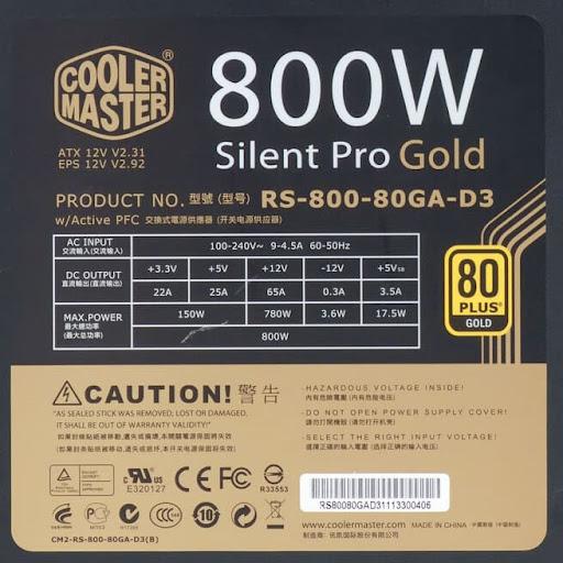 Сертификат соответствия стандарту КПД для БП Cooler Master