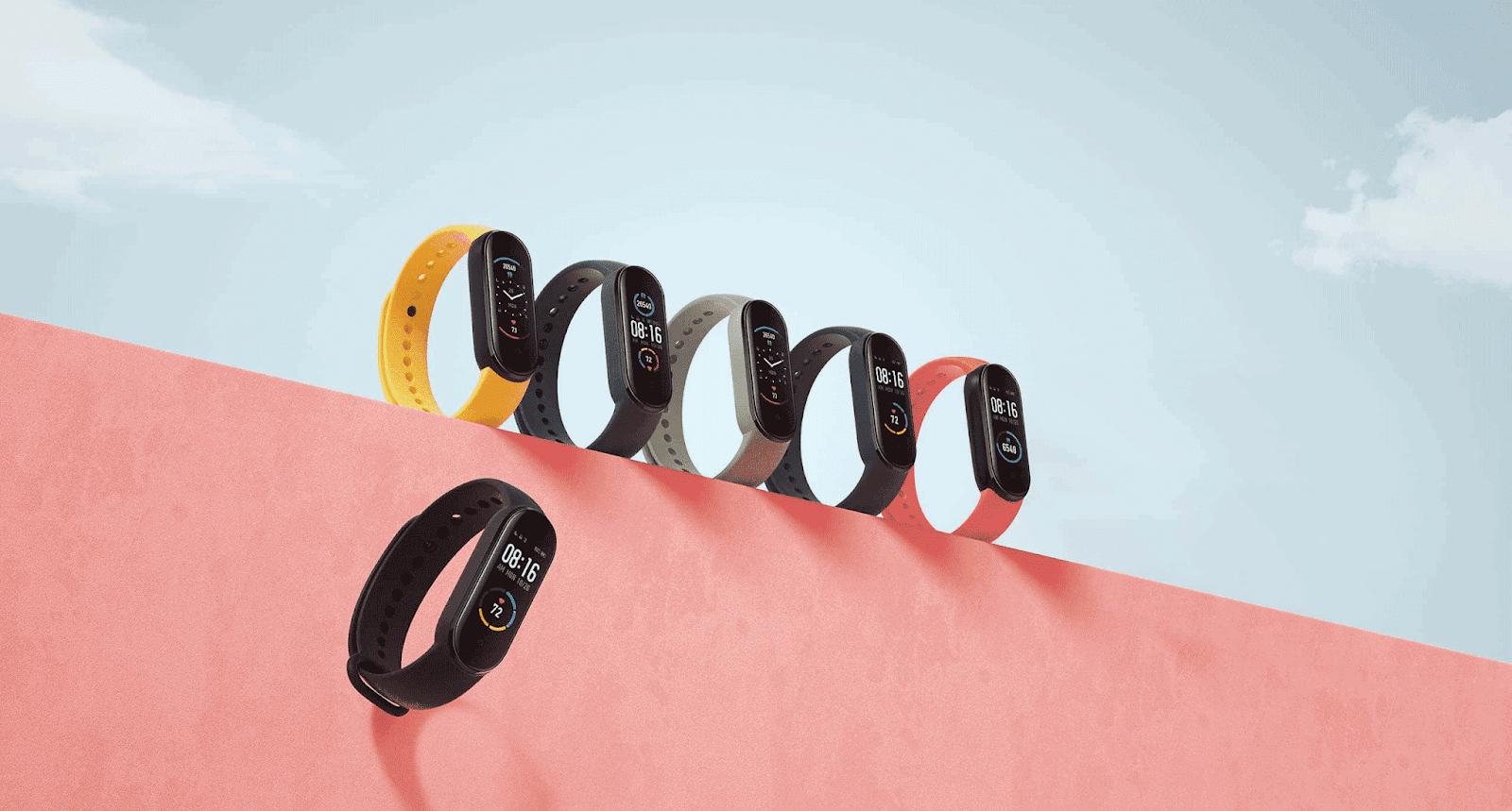 Xiaomi Mi band 5 варианты расцветки