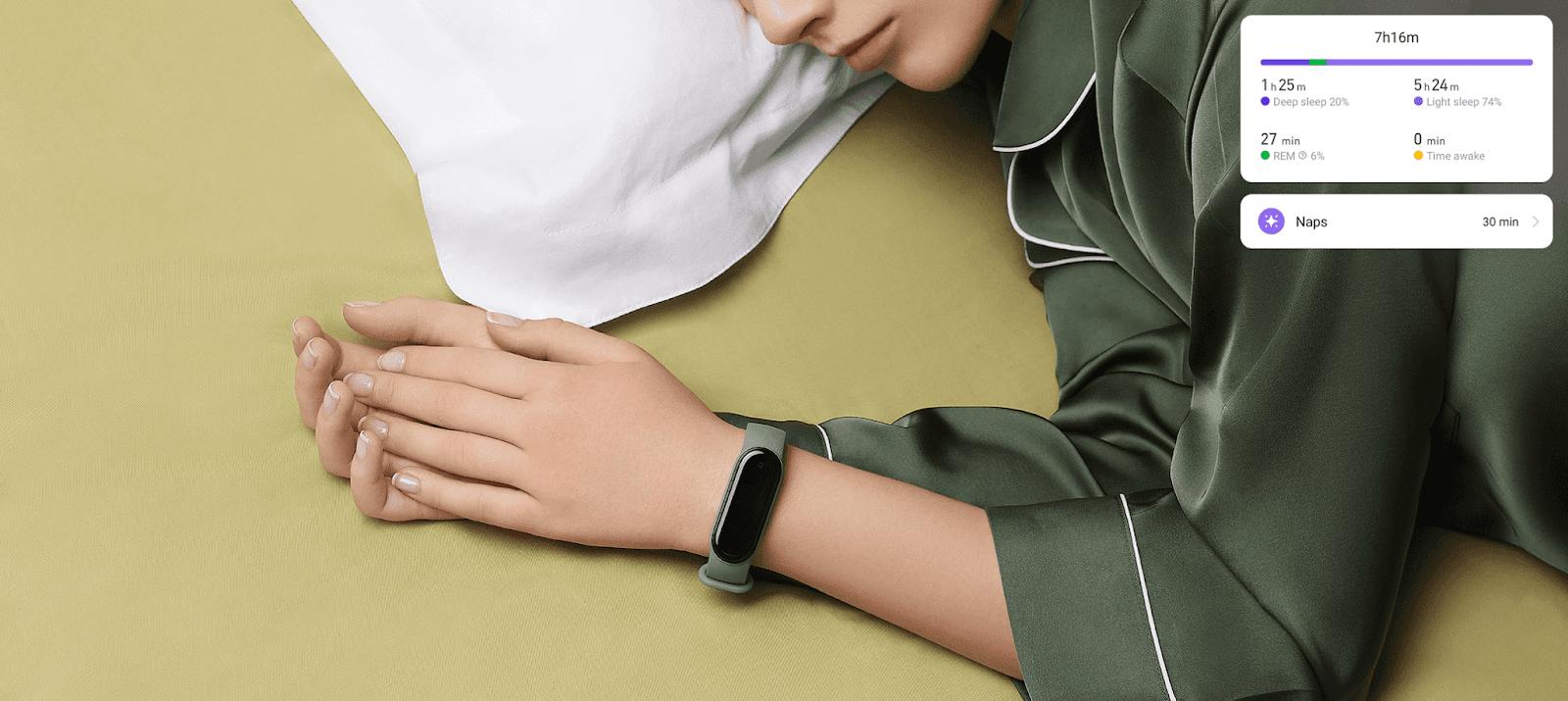 Xiaomi mi band 5 показники сну