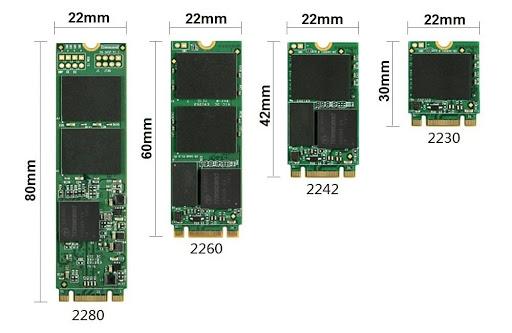 Типорозмір SSD M.2 формату