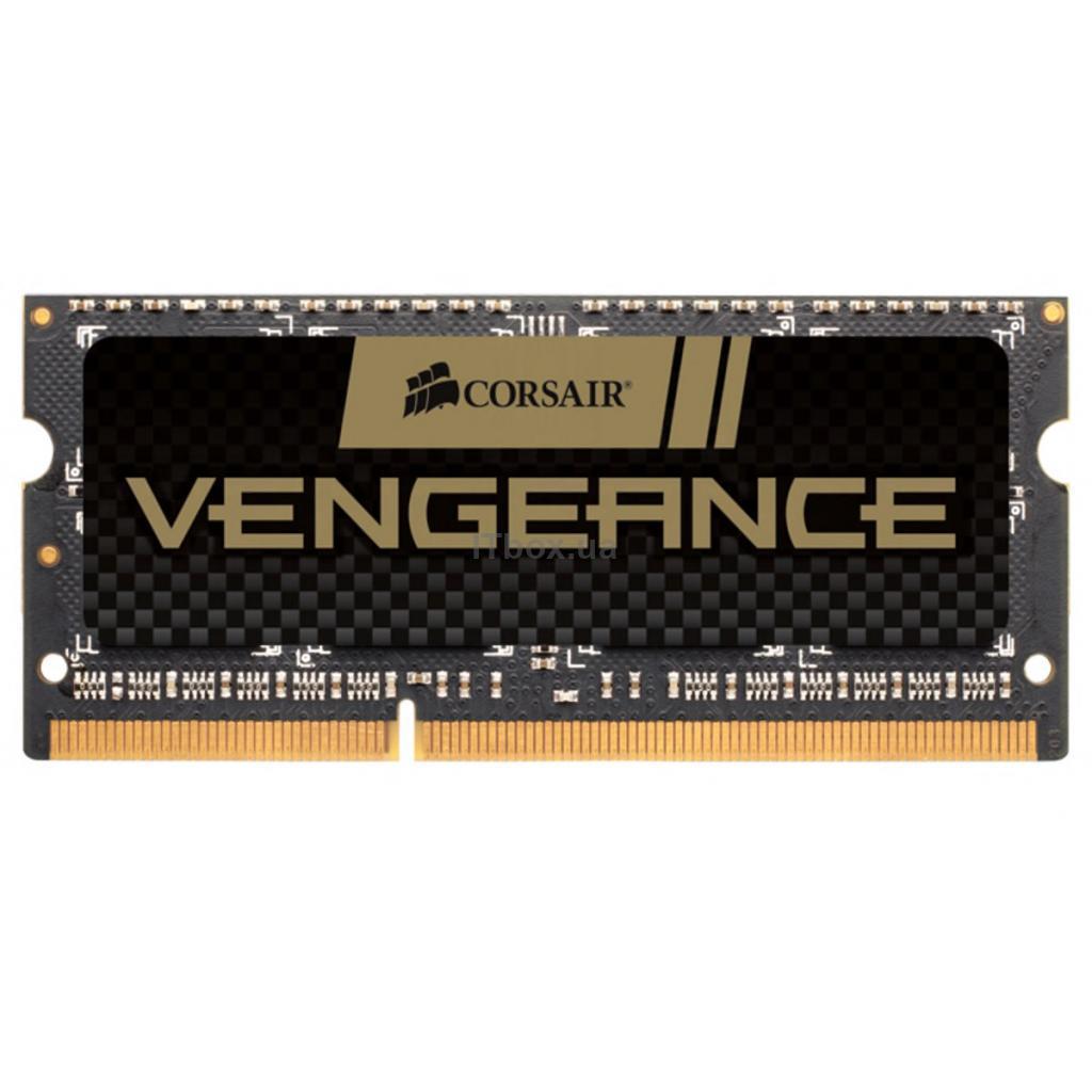Оперативна пам'ять для ноутбука SoDIMM DDR3 8GB 1600 MHz Vengeance Black Corsair (CMSX8GX3M1A1600C10)