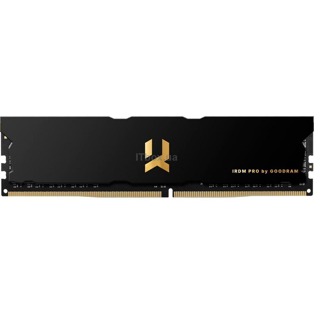 Оперативна пам'ять для ПК DDR4 8GB 4000 MHz Iridium Pro Black Goodram (IRP-4000D4V64L18S/8G)
