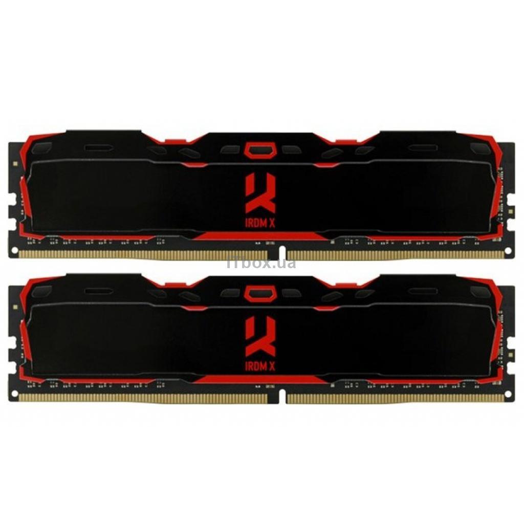 Оперативна пам'ять для ПК DDR4 16GB (2X8GB) 3200 MHz IRDM X Black Goodram (IR-X3200D464L16SA/16GDC)