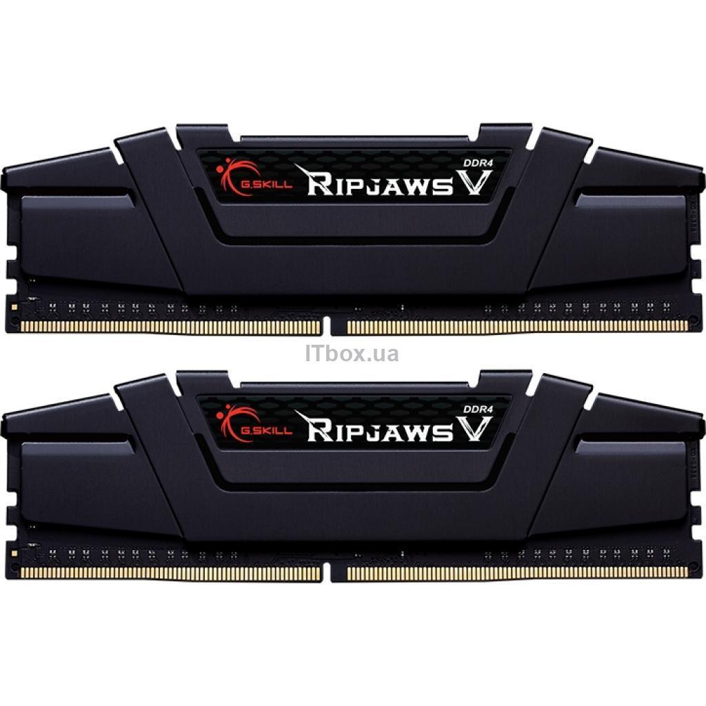 Оперативна пам'ять для ПК DDR4 16GB (2x8GB) 4000 MHz Ripjaws V G.Skill (F4-4000C18D-16GVK)